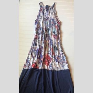 Sheer bottom maxi dress - Sz L